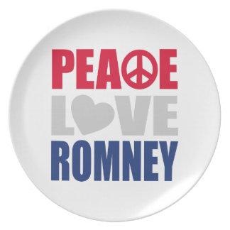 Amor Romney de la paz Platos Para Fiestas