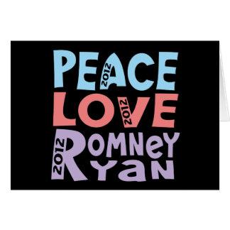 amor Romney Ryan de la paz Tarjeta Pequeña