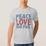 Amor Ron Paul de la paz Camisas