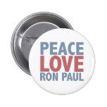 Amor Ron Paul de la paz Pins