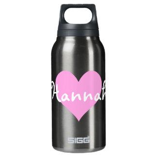 Amor rosa claro Hannah del corazón I Botella Isotérmica De Agua