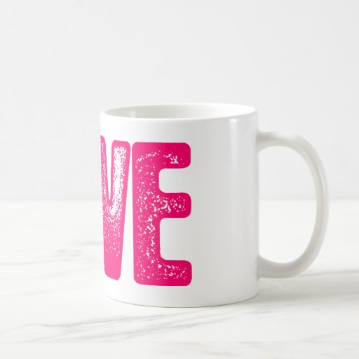 Amor - rosa tazas de café