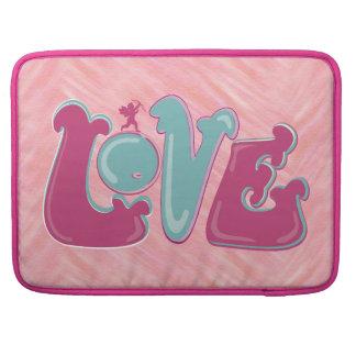 Amor rosado adorable del Cupid Fundas Macbook Pro