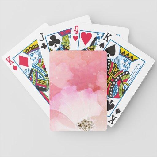 Amor rosado barajas de cartas