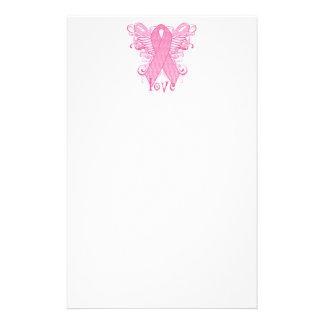 Amor rosado de la cinta papelería