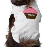 Amor rosado de la magdalena camiseta de perro