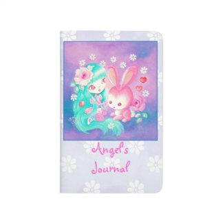 Amor rosado del conejito cuaderno