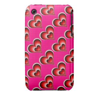 Amor rosado del corazón iPhone 3 protector