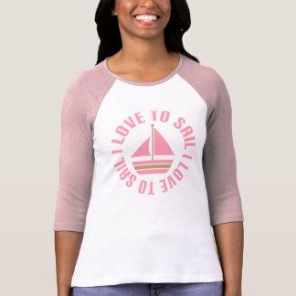 Amor rosado del velero I para navegar el regalo Remeras