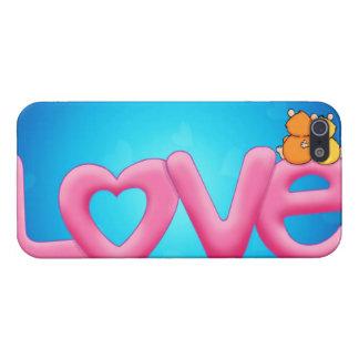 Amor rosado lindo iPhone 5 carcasa