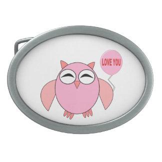Amor rosado lindo usted hebilla del cinturón del b hebilla de cinturón oval