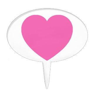 Amor rosado llano decoración de tarta
