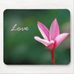 Amor rosado Mousepad Tapete De Ratón