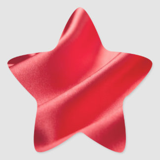 amor rosado rojo elegante sedoso de seda de la pegatina en forma de estrella