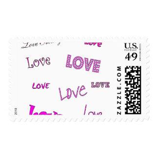 Amor rosado sello