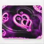 Amor rosado tapetes de raton