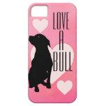 Amor rosado una caja del teléfono de Bull Pitbull iPhone 5 Fundas