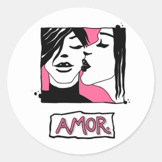 Amor. Round Sticker