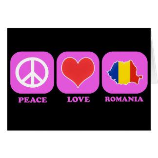 Amor Rumania de la paz Tarjeta