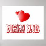 Amor ruso del gato azul posters