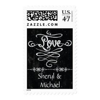 Amor rústico del boda del remolino del estilo de sellos
