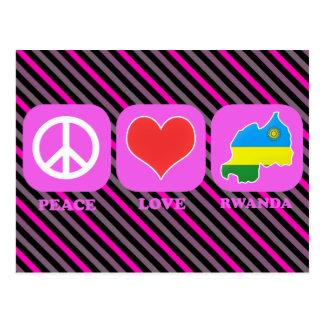 Amor Rwanda de la paz Tarjeta Postal