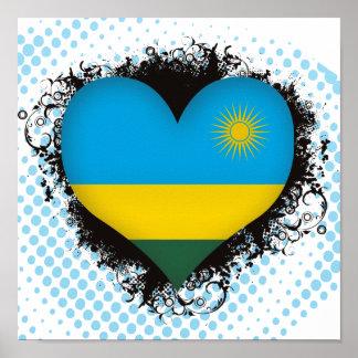 Amor Rwanda del vintage I Posters