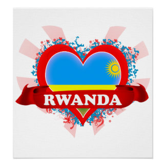 Amor Rwanda del vintage I Poster