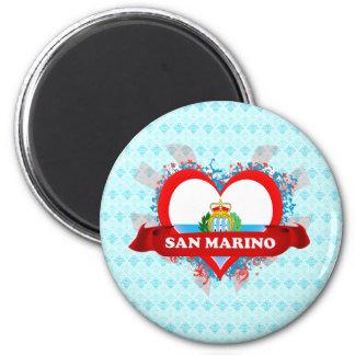 Amor San Marino del vintage I Imán Redondo 5 Cm