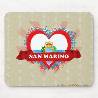 Amor San Marino del vintage I Alfombrilla De Ratones