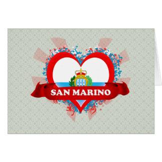 Amor San Marino del vintage I Tarjeta De Felicitación