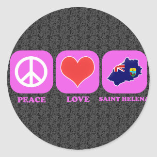 Amor Santa Helena de la paz Pegatina Redonda