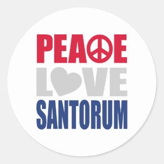 Amor Santorum de la paz Pegatina