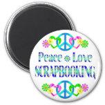 Amor Scrapbooking de la paz Iman De Frigorífico