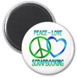 Amor SCRAPBOOKING de la paz Imán De Nevera