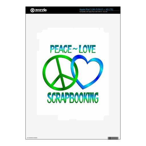 Amor SCRAPBOOKING de la paz iPad 3 Pegatina Skin
