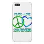 Amor SCRAPBOOKING de la paz iPhone 5 Fundas