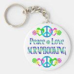 Amor Scrapbooking de la paz Llavero