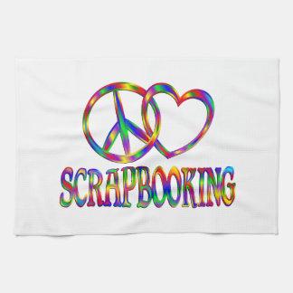 Amor Scrapbooking de la paz Toalla