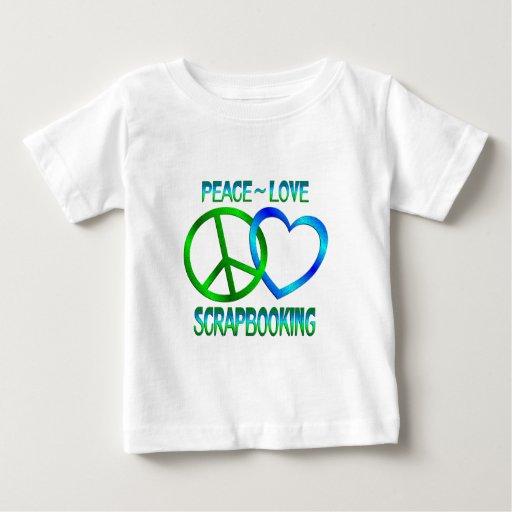 Amor SCRAPBOOKING de la paz Playeras