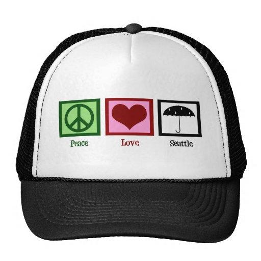 Amor Seattle de la paz Gorro