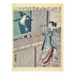 Amor secreto por Shiba, Kokan Ukiyoe Postales