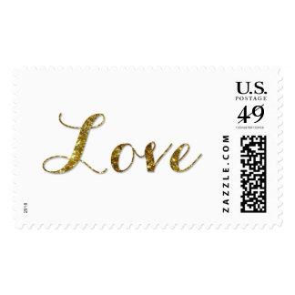 Amor - sello del boda del confeti del brillo del