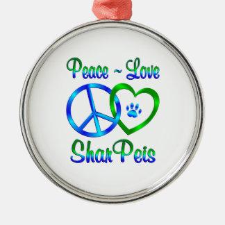 Amor Shar Peis de la paz Adornos De Navidad