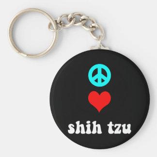 Amor Shih Tzu de la paz Llavero Personalizado