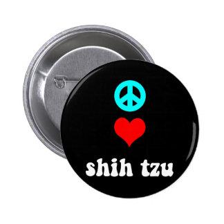 Amor Shih Tzu de la paz Pins