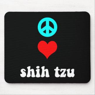 Amor Shih Tzu de la paz Tapete De Ratón