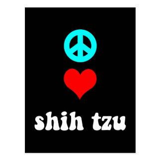 Amor Shih Tzu de la paz Postal