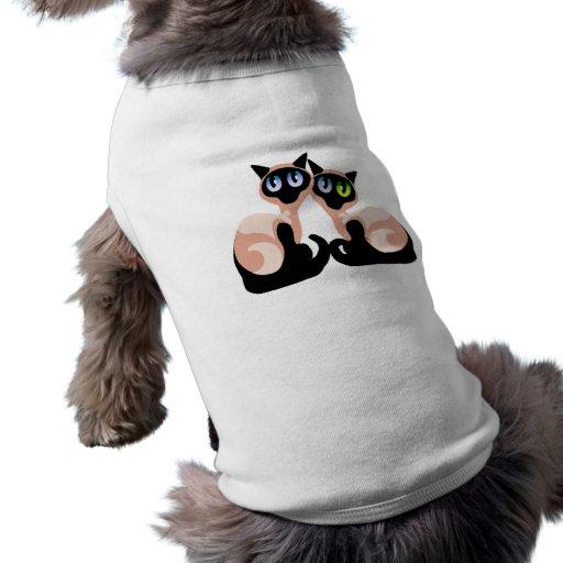 Amor siamés camiseta de perrito