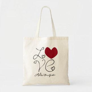 Amor siempre bolsa tela barata